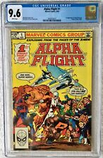 CGC 9.6 ALPHA FLIGHT #1 .. 1ST PUCK & MARRINA .. ORIGIN OF ALPHA FLIGHT .. 1983