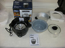 Oster Titanium Infused 6 Cup Rice & Grain Cooker With Steamer~New Opened Box