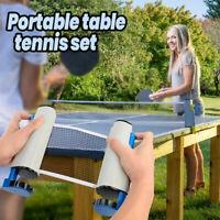 Indoor Outdoor Games Retractable Table Tennis Net Kit Nylon Mesh Ping Pong Net T