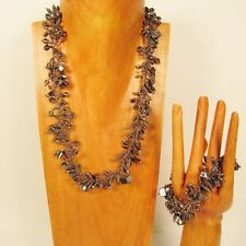 "22"" Handmade Silver Shell Chip Seed Bead Necklace/Bracelet PERFECT MATCH"