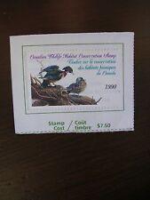 1990 Canadian Wildlife Habitat Conservation Stamp Used - Good Cond