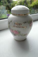 Royal Albert Happy Anniversary Jar 10 cm 1st Quality Bone China British