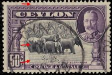 "CEYLON 273 (SG377) - King George V ""Wild Elephants"" (pf13767)"