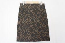 Tahari Pencil Skirt  Womens 4 Animal Print Lined Career Work Black