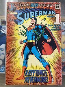 "SUPERMAN #233 Jan '71 VF Iconic Neal Adams ""Kryptonite Never More!"""