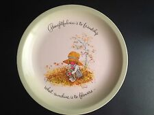 """Hollie Hobby Vintage 10"""" Plate 1972 Exclusive """"Thoughtfulness is Friendship"""""""