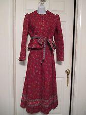 Vera Bradley Red Jacket & Skirt  2 pc Set Size M Vintage