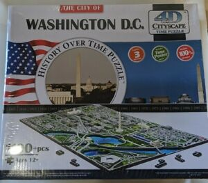 4D Cityscape Washington D.C. History over Time Puzzle Brand new (Sealed) v