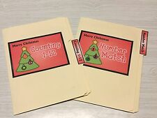 2 CHRISTMAS TREE File Folder Games -Activity Set - Teaching Supplies MATH