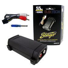 Stinger SGN141 Cable de altavoz 2 canales de convertidor de salida de línea RCA 55w Ajustable