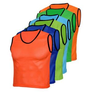 10 Football Soccer training Bibs for Kid Youth Adult sports Rugby Hockey Cricket