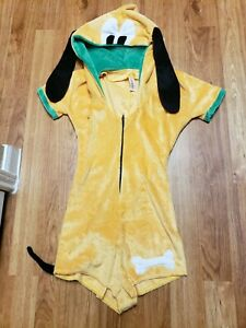 J. Valentine yellow green dog Costume Paw Print Adult Size large Romper Only