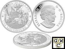 2013 '300th Anniversary of Louisbourg' Proof $20 Silver Coin .9999 Fine (13232)