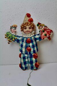 Hampelmann von Raphael Tuck um 1880 Clown Pierrot Doll