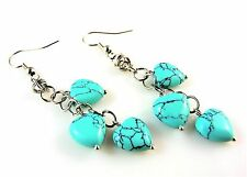 Natural Turquoise Fashion Earrings