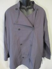 Chef Revival Polyester 2XL Gray/Black Double Breasted Long Slve Jacket SR$39 NEW