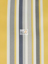 OXFORD STRIPE OUTDOOR CANVAS WATERPROOF FABRIC - Yellow - BY THE YARD ANTI-UV