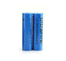 2x 3000mAh 3.7V 18650 UltraFire Li-ion Rechargeable Battery for Flishlight Torch