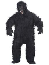 MENS GORILLA FANCY DRESS COSTUME BLACK HAIRY APE MAN HALLOWEEN KING KONG OUTFIT