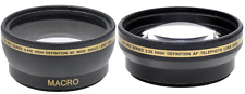 52mm Wide Angle Lens & 2.2X Telephoto Lens for Photo & Video Camera