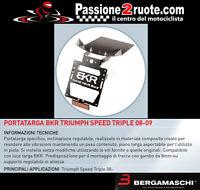 placa Bkr triumph velocidad triple 08 - 09 Placa licencia placa regulable