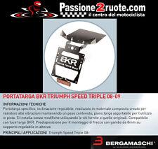 Portatarga Bkr triumph speed triple 08 - 09 porta targa license plate regolabile