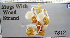 New Golden Angels 4 Ceramic Mugs With Mug Tree Gold 3D Angel Cup Cups