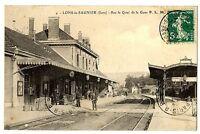 CPA 39 Jura Lons-le-Saunier Sur le quai de la Gare P.L.M animé