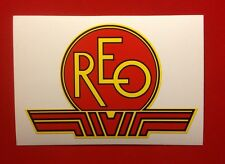 REO antique engine decal 40's & 50's  Mowers; 12
