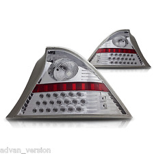LED Tail Lights for 2001-2003 Honda Civic 2DR Coupe Chrome Clear Rear Lamps