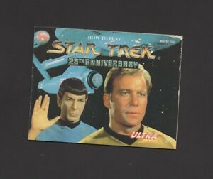Star Trek 25th Anniversary NES MANUAL ONLY Authentic Worn