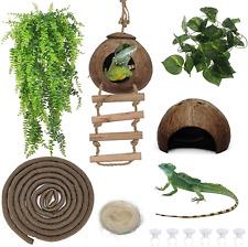 Bearded Dragon Tank Accessories Reptile Habitat Decor Reptiles Hanging Plants Ar