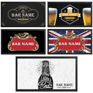 Personalised Bar Runner Novelty Bar Gifts Beer Label Pub Custom Mat Gift Idea