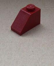 Lego 50 dunkelrote Dachsteine 1x2  (3040) Schrägsteine 45° Neu Slope dark red