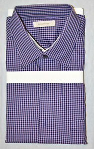 Auth ERMENEGILDO ZEGNA Lilac Cotton Long Sleeve Patch Pocket Shirt Size 3XL