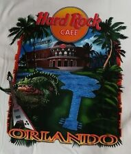 Vintage Hard Rock Cafe Orlando Florida T Shirt Mens Size S Gator Guitar Tee NOS