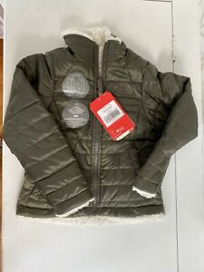 the north face girls Green reversible mossbud coat jacket size 5 Xxs nwt $110