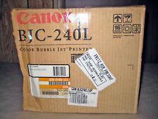 Vintage Canon BJC-240L Color Bubble Jet Printer Retail Box
