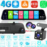 12in 4G Android 8.1 Quad Core GPS Navi BT Car DVR Camera Rearview Mirror Dashcam