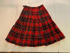 Vintage Pendleton Red Plaid Wool Skirt Size 10