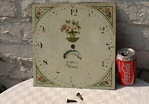 ANTIQUE GRANDFATHER LONGCASE CLOCK FACE MONTH DIAL - D.ASHLEY MARCH c1835 ?