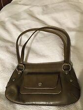 Christopher Kon Dark Green Leather Clutch Shoulder Bag Handbag Retailed $295