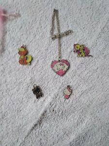 5 hello kitty/ my little pony pendants
