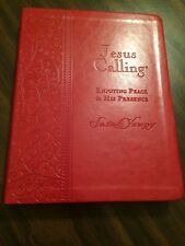 Jesus Calling Large Print - $24.99 Retail - Red Leathersoft Deluxe