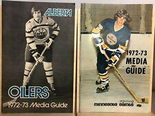 WHA 1972-1973 Alberta Oilers + Minnesota Saints Media Guide Lot