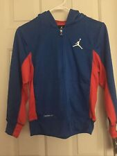 New Nike Air Jordan Therma-Fit Medium 10-12 Full Zip up Hoodie Jacket Blue $70