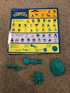 Napoleon Bonafrog Ninja Turtle Weapons accessories Vintage TMNT pieces + card