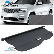 Fits 11-17 Jeep Grand Cherokee Tonneau Retractable Cargo Cover PU Leather Black