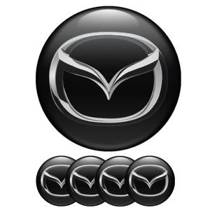 6 Stücke Bremssattel Aufkleber für Mazda Sport logo Aufkleber Weiß