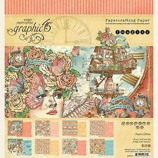 Graphic45 IMAGINE 8x8 PAPER PAD scrapbooking (24) SHEETS (8) DESIGNS
